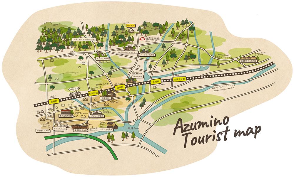 安曇野市観光マップ